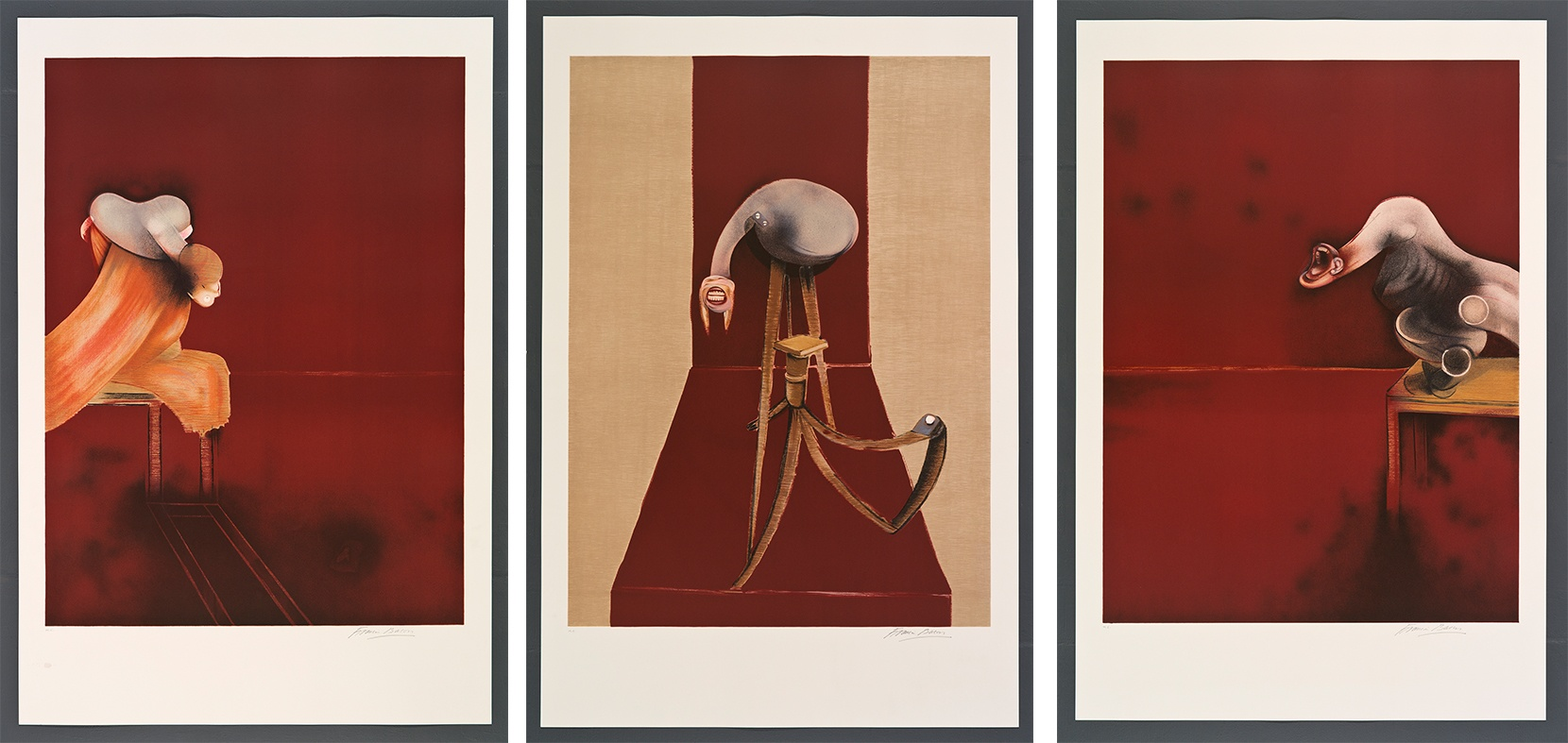 Francis Bacon, 2nd Version of Triptych 1944 (Large version)