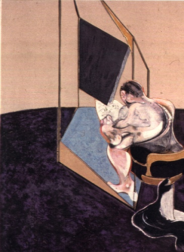 Francis Bacon, Three Studies of the Male Back 1970 (central panel)