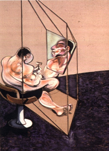 Francis Bacon, Three Studies of the Male Back 1970 (right panel)