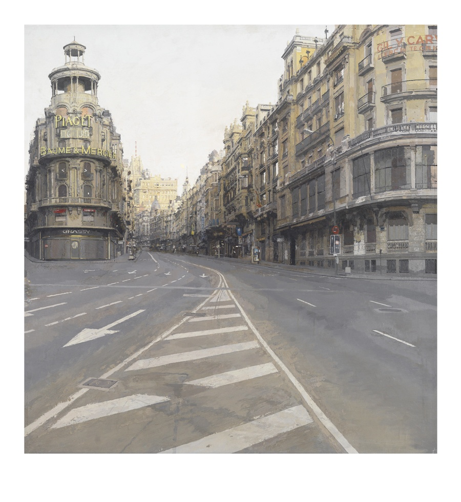 Gran Vía  2019, estampación digital, 85 x 78 cm